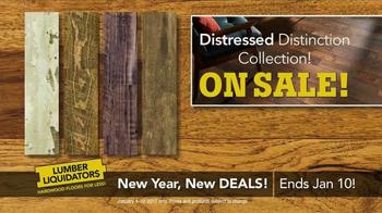 Lumber Liquidators New Year, New Deals! TV Spot, 'Distressed Styles'