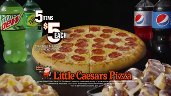 Little Caesars Pizza 5 for $5 TV Spot, 'Zoom'