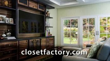 Closet Factory TV Spot, U0027Custom Designsu0027