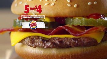 Burger King 5 For $4 Deal TV Spot, \'More for Four\'