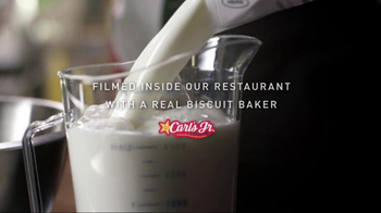 Carl's Jr. Bacon, Egg & Cheese Biscuit TV Spot, 'Made From Scratch'