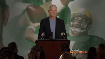 MicroTouch Tough Blade TV Spot, 'Press Conference' Featuring Brett Favre
