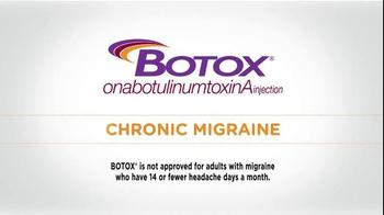 Botox TV Spot, 'Chronic Migraines'