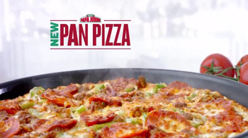 Papa John\'s Pan Pizza TV Spot, \'Thick, Cheesy, Golden Brown\'