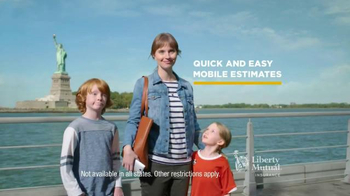 Liberty Mutual Mobile Estimates TV Spot, \'Quick and Easy\'