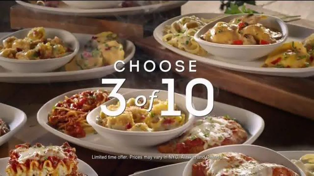 All The Pasta You Can Eat With Olive Garden S Never Ending: Olive Garden Create Your Own Tour Of Italy TV Commercial