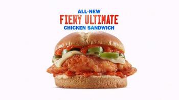 Sonic Drive-In Fiery Ultimate Chicken Sandwich TV Spot, 'Fiery Intro' - Thumbnail 9