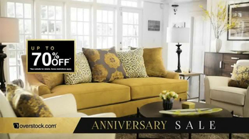 Overstock.com Anniversary Sale TV Spot, 'Celebrate and Save'