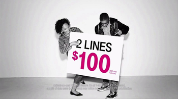 T-Mobile One TV Spot, '2/$100 + Free Apple iPhone 7'