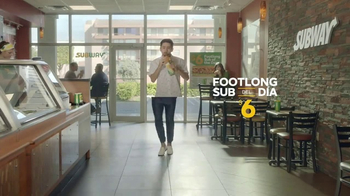 Subway $6 Footlong Sub del Día TV Spot, 'Pies bailando' [Spanish]