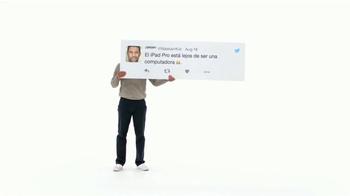 Apple iPad Pro TV Spot, 'Mejor que una computadora' [Spanish]