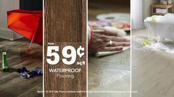 Lumber Liquidators Spring Flooring Sale TV Spot, 'Wood-Look Waterproof'