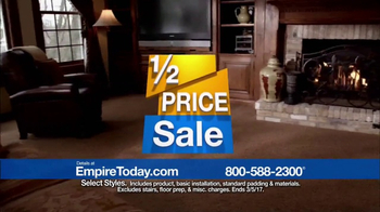 Empire Today Half Price Sale TV Spot, 'Shop Right From Home'