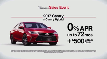 Toyota 1 For Everyone Sales Event TV Spot, '2017 Camry' - Thumbnail 8