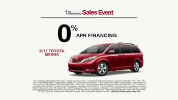 Toyota 1 For Everyone Sales Event TV Spot, 'Balloons: Sienna & Highlander' - Thumbnail 7