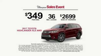 Toyota 1 For Everyone Sales Event TV Spot, 'Balloons: Sienna & Highlander' - Thumbnail 8