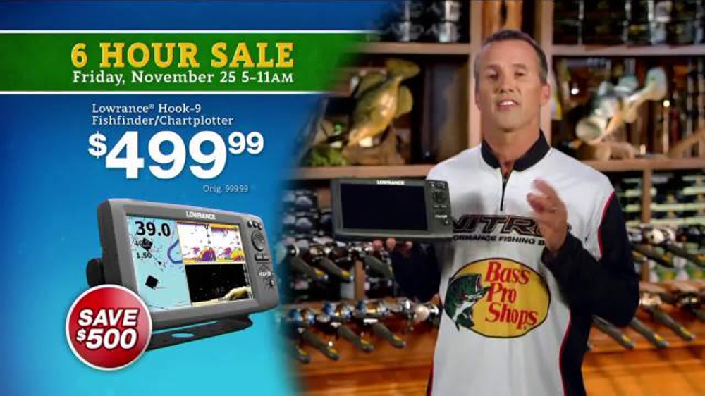 bass pro shops 6 hour sale tv commercial, 'box and fishfinder, Fish Finder