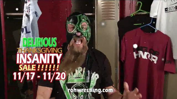ROH Wrestling Delirious Thanksgiving Insanity Sale TV Spot, 'Deck the Hall'