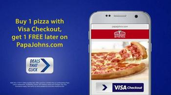 VISA Checkout TV Spot, 'Deals That Click: Free Pizza'
