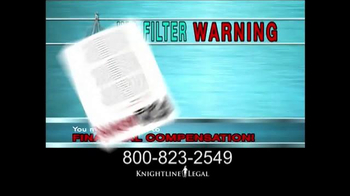 Knightline Legal TV Spot, 'IVC Filter Warning'