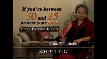 Final Expense Direct TV Spot, 'Financial Burden'
