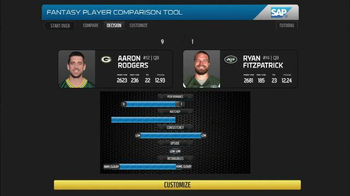 SAP Player Comparison Tool TV Spot, 'NFL Top Fantasy Defense'