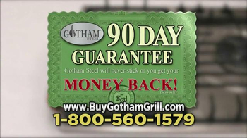 Gotham Steel Double Grill TV Spot, 'Nothing Sticks' Featuring Graham Elliot - Thumbnail 9