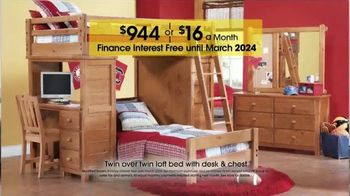 Terrific Rooms To Go Kids And Teens Anniversary Sale Tv Commercial Twin Loft Bed Video Download Free Architecture Designs Saprecsunscenecom