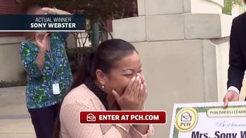 Publishers Clearing House TV Commercial, 'Actual Winner:Sony Webster