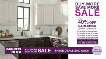 Cabinets To Go Buy More Save More Sale Tv Commercial Special Financing Ispot Tv