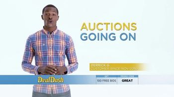 dealdash tv commercial auction deals headphones and tote ispot tv