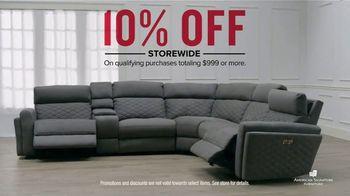 American Signature Furniture TV Commercial, \'10 Percent Off Storewide\' -  Video