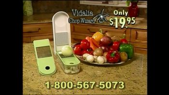 Vidalia Chop Wizard TV Spot, 'All That Chopping'