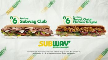 Subway $6 Footlong Subs TV Spot, 'Starburst'