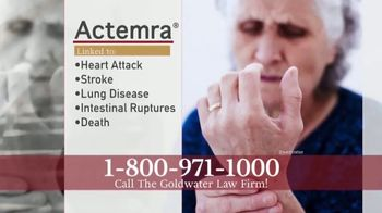 Goldwater Law Firm TV Spot, 'Actemra Compensation'