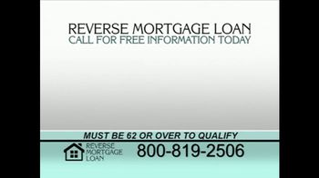 Reverse Mortgage Loan TV Spot, 'Homeowners Over 62'
