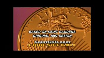 New England Mint Coins Saint Gaudens $50 Double Eagle TV Spot, 'Intricate'