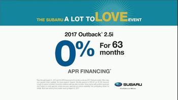 Subaru A Lot to Love Event TV Spot, 'Boxcar' Song by Langhorne Slim - Thumbnail 5