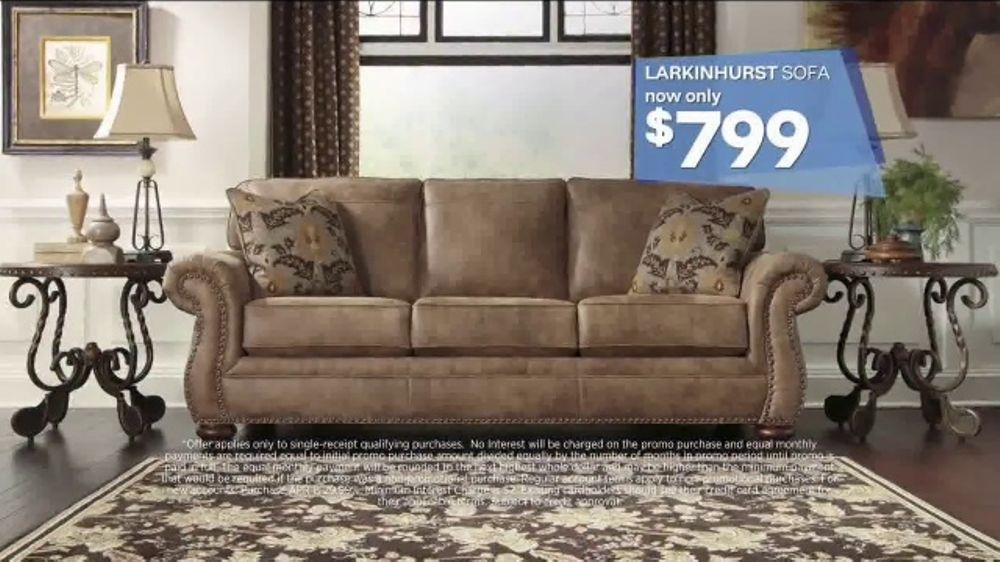 Ashley homestore labor day event tv commercial 39 beat the for Furniture 60 months no interest
