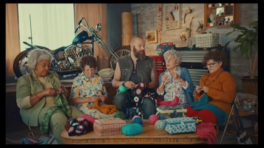 Godaddy Gocentral Tv Commercial Biker Mike S Crochet