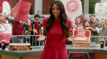 Pizza Hut Rewards TV Spot, 'ESPN: Free Pizza for a Year' Feat. Maria Taylor