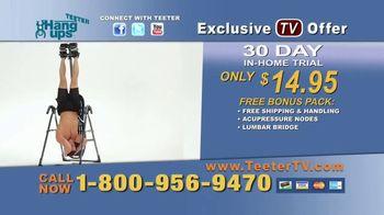 Teeter Hang Ups TV Spot, 'Lumbar Stretch'