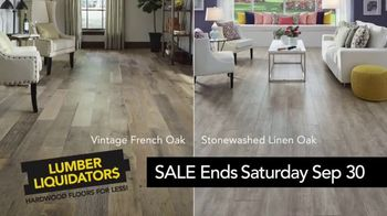 Lumber Liquidators Yellow Tag Clearance Sale TV Spot, 'Timeless Style'