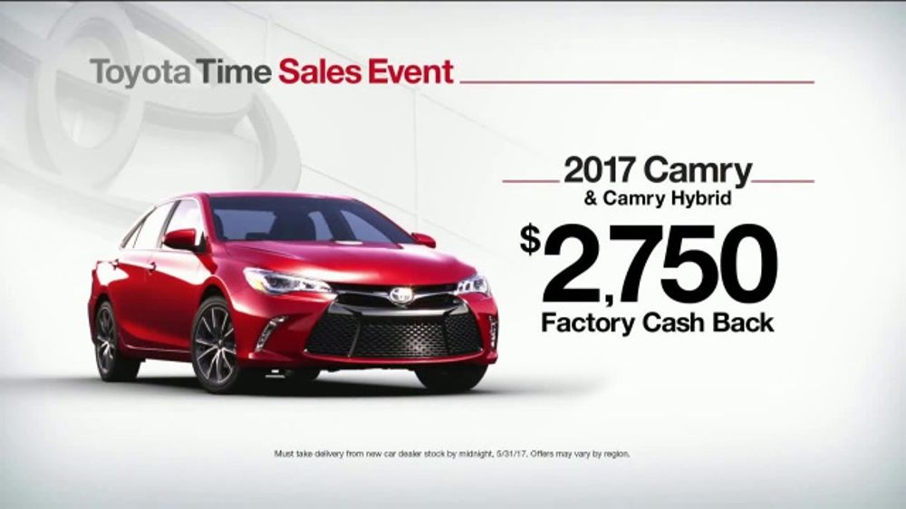 Toyota Time Sales Event TV Commercial, '2017 Camry Cash ...