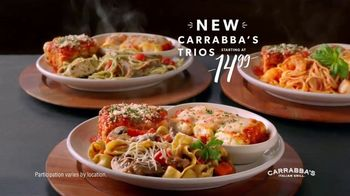 Carrabba's Grill Trios TV Spot, 'Three Pastas on One Plate'