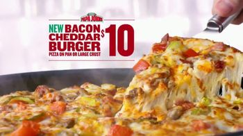 Papa John's Bacon Cheddar Burger Pizza TV Spot, 'Look Out'