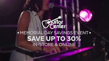 Guitar Center Memorial Day Savings Event TV Spot, 'Drum Kit and Piano'