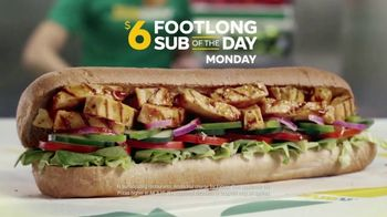 Subway $6 Footlong Sub of the Day TV Spot, 'Big on Taste, Small on Price'