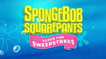 Nickelodeon TV Spot, 'SpongeBob SquarePants Super Fan Sweepstakes'