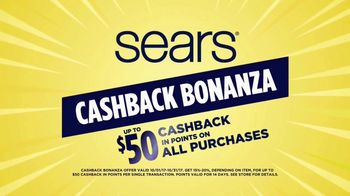 Sears Cashback Bonanza TV Spot, 'Major Home Appliances'